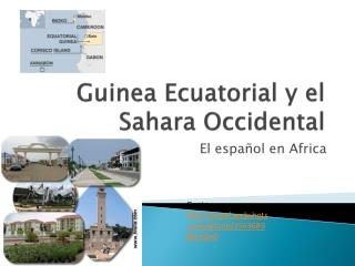 Guinea Ecuatorial y el Sahara Occidental