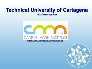 Technical University of Cartagena  upct.es