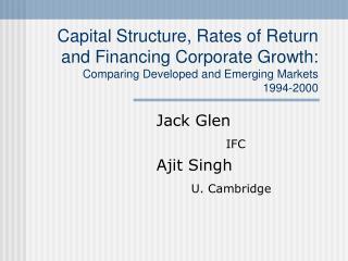 Jack Glen IFC Ajit Singh U. Cambridge