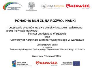 Warszawa ,  19 marca  201 3  r .