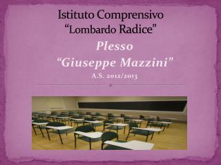 """Istituto Comprensivo  """" Lombardo  Radice"""""""