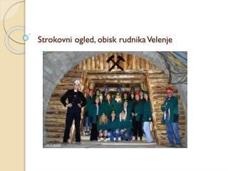 Strokovni ogled, obisk rudnika Velenje