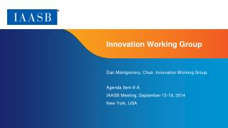 Innovation Working Group