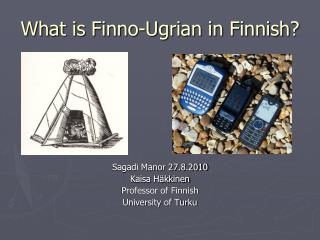 What is Finno-Ugrian in Finnish?