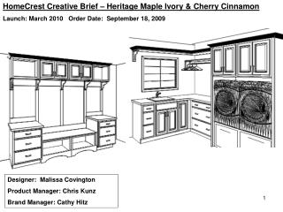 Designer:  Malissa Covington Product Manager: Chris Kunz Brand Manager: Cathy Hitz