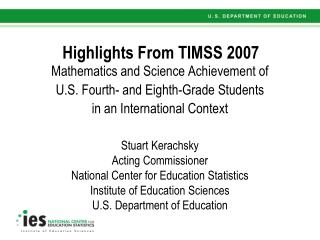 Highlights From TIMSS 2007