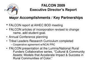 FALCON 2009  Executive Director's Report