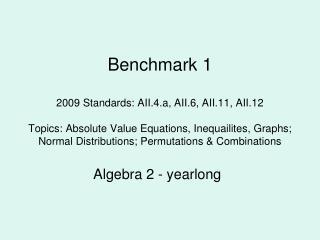 Algebra 2 - yearlong