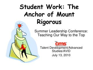 Student Work: The Anchor of Mount Rigorous