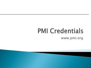 PMI Credentials