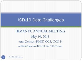 ICD-10 Data Challenges