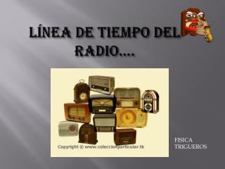 LÍNEA DE TIEMPO DEL RADIO….
