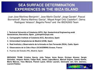 SEA SURFACE DETERMINATION EXPERIENCES IN THE IBIZA ISLAND