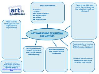 ART WORKSHOP  EVALUATION  FOR  ARTISTS
