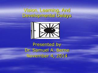 Vision, Learning, And Developmental Delays Presented by Dr. Samuel A. Berne November 4, 2014