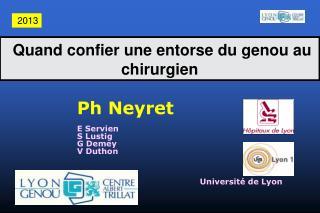 Ph Neyret E Servien S Lustig G Demey V Duthon Université de Lyon
