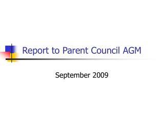 Report to Parent Council AGM