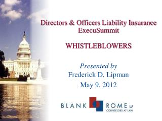 Directors & Officers Liability Insurance  ExecuSummit WHISTLEBLOWERS