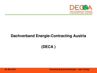 Dachverband Energie-Contracting Austria  (DECA )