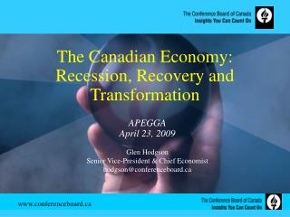 The Canadian Economy: Recession, Recovery and Transformation