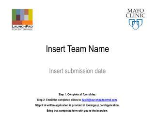 Insert Team Name