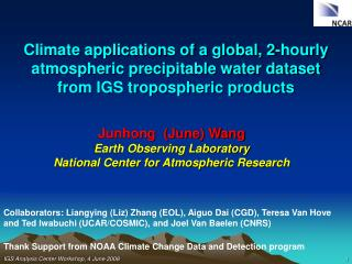 Junhong  (June) Wang Earth Observing Laboratory National Center for Atmospheric Research