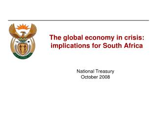 The global economy in crisis: implications for South Africa