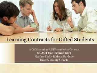 Learning Contracts for Gifted Students