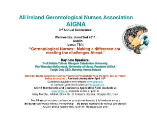 All Ireland Gerontological Nurses Association AIGNA