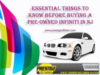 Essential things to know before buying a pre owned infiniti