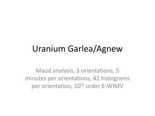 Uranium  Garlea /Agnew
