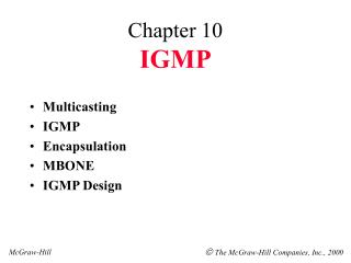 Chapter 10 IGMP