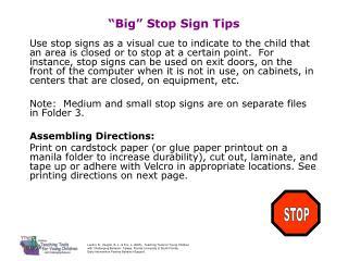 �Big� Stop Sign Tips
