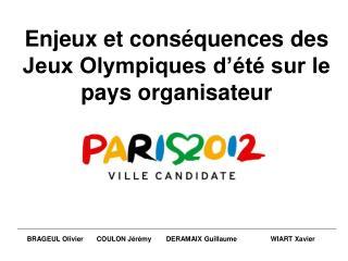 Enjeux et conséquences des Jeux Olympiques d'été sur le pays organisateur