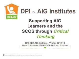 DPI ~ AIG Institutes