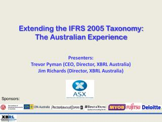 Extending the IFRS 2005 Taxonomy: The Australian Experience