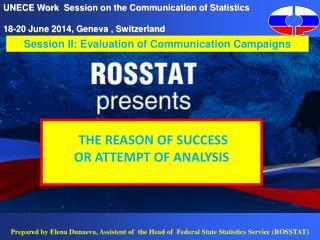 UNECE Work  Session on the Communication of Statistics   1 8 -20 June 2014, Geneva , Switzerland