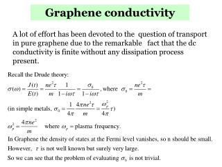 Graphene conductivity