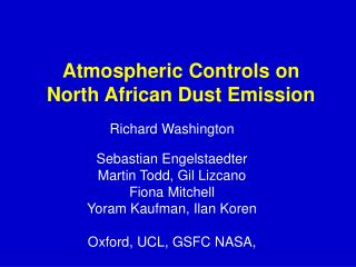 Atmospheric Controls on North African Dust Emission