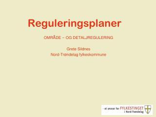 Reguleringsplaner