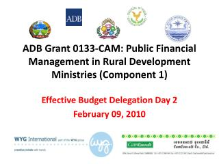 ADB Grant 0133-CAM: Public Financial Management in Rural Development Ministries (Component 1)