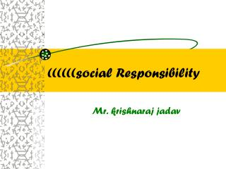 ((((((social Responsibility