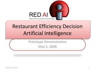 Restaurant Efficiency Decision Artificial Intelligence