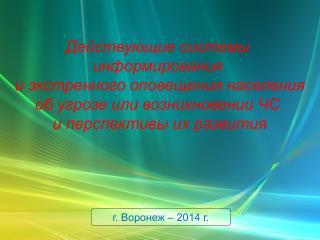 г. Воронеж – 2014 г.