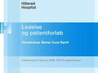 Ledelse og patientforløb