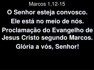 Marcos 1,12-15