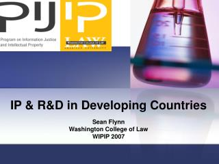 IP & R&D in Developing Countries