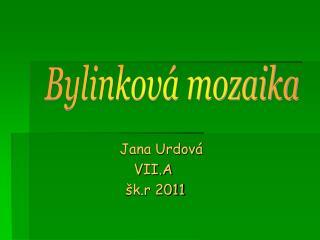 Jana Urdová  VII.A  šk.r 2011
