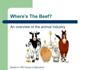 Where�s The Beef?