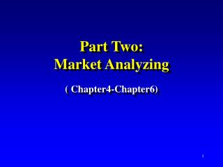 Part Two:  Market Analyzing